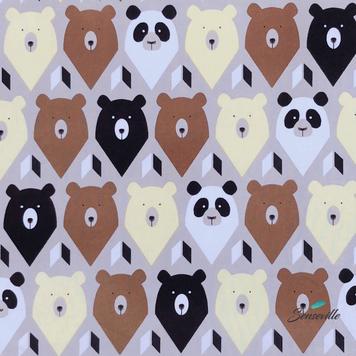 Медведи на бежевом. PL-0022