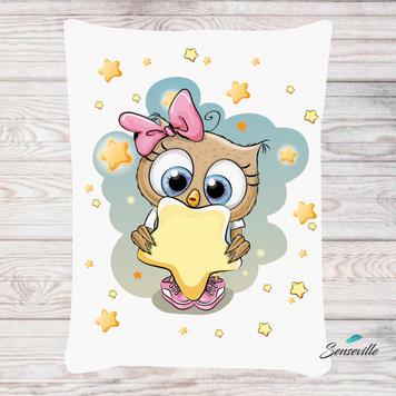 Сова для девочек. Панель для одеяла/пледа (78х104см). RUPN-0109