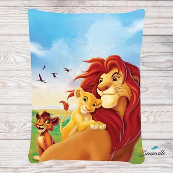 Король Лев на природе. Панель для одеяла/пледа (78х104см). RUPN-0093