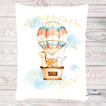 Воздушные шары. Панель для одеяла/пледа (БОЛЬШАЯ 155х200 см). RUPN-0017Б