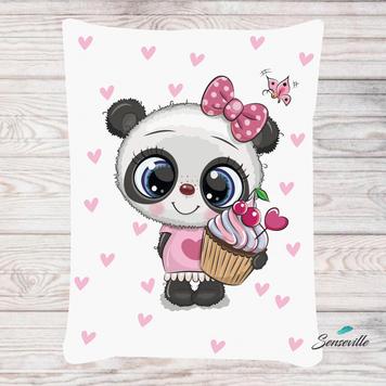Панда для девочек. Панель для одеяла/пледа (78х104см). RUPN-0079