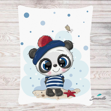 Панда для мальчиков. Панель для одеяла/пледа (78х104см). RUPN-0081