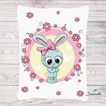 Голубая зайка. Панель для одеяла/пледа (78х104см). RUPN-0099
