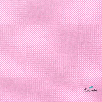 Белый горох 3 мм на розовом. TR-0032