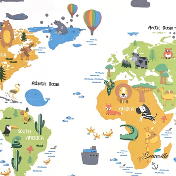 Карта мира на белом. TR-0326 ОСТАТОК 80 см.
