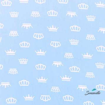 Белые короны на голубом. Остаток 30 см. TR-0039