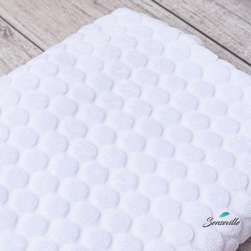 Плюш Minky шарики белые. PM-TRSH-01 Возможен брак. ОСТАТКИ! 70+47 см.