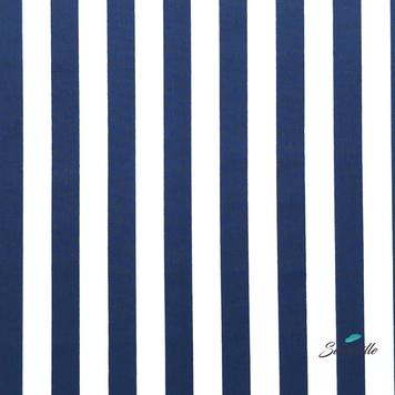 Тёмно-синие полосы на белом. Линяет. TR-0098