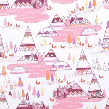 Розовые вигвамы на белом. TR-0129